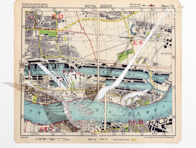 "£450.00 (approx. $698)The ThamesClaire BrewsterHand cut page from London street atlas17.3"" x 13.3"" make it mine"