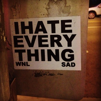 Los Angeles street art or 1am reality? #ihateeverything #sad #hollywood