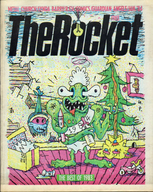 Happy Xmas from The Rocket magazine, 1984