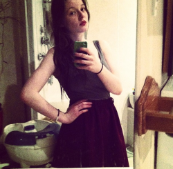 wore my skirt I got before christmas on christmas day cute okey