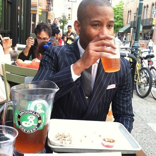 mypantalones:  Pitchers and @mensstylepro (at Shake Shack)