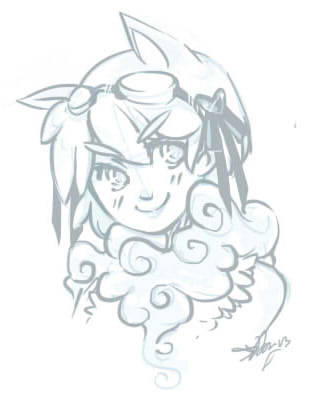 I'm in a doodling sort of mood. This is my gaia avi… been ages since I've drawn her. If you have a gaia, feel free to add me, though I really don't go on too often: username = puramuu