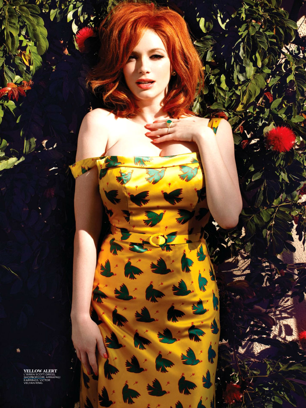 bohemea:  Christina Hendricks - Flare by Max Abadian, May 2013