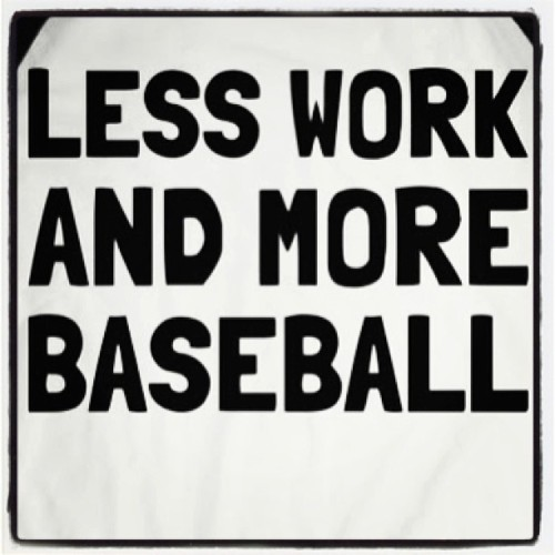 although the two kind of go hand & hand for me :) LESS THAN A WEEK!! #MLB #baseball