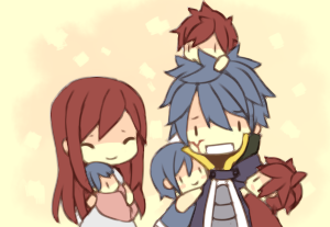 pandapandacake:  Jellal just found out Erza's pregnant again  (゜▽゜;)