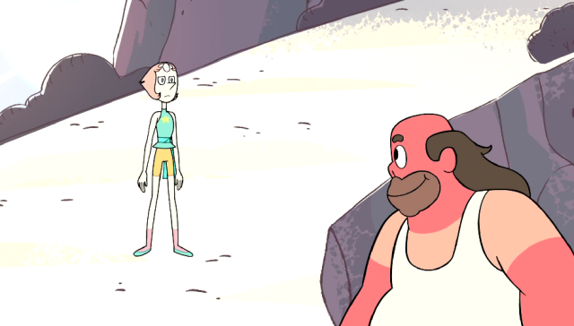 OH MY GOD PEARLI'M SCREAMING #THE LESBIANNESS OF HER RESPONSE HERE  #NOT THE LOOK UP AND DOWN BEFORE DESTROYING HIM WITH A SINGLE WORD #su liveblog#s1e20#coach steven#greg#pearl