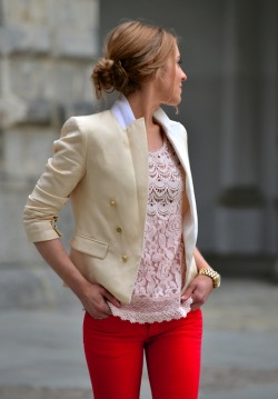coast-to-toast:  Cream Blazer