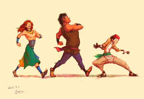 fuckyeahragetoons:  simba, pumbaa and timon as humans