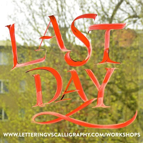Hey guys this is the last day for the early bird price! More infos at www.letteringvscalligraphy.com/workshops #lettering #calligraphy #typography #berlin #workshop @martinaflor #lvsc