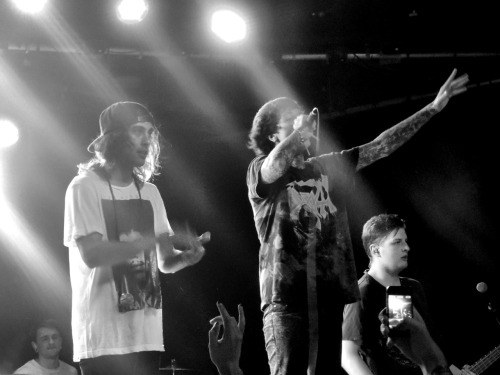 sharktankboner:  Bring Me The Horizon & Pierce The Veil at The HiFi Sydney 25th Feb Sharktankboner.tumblr.com