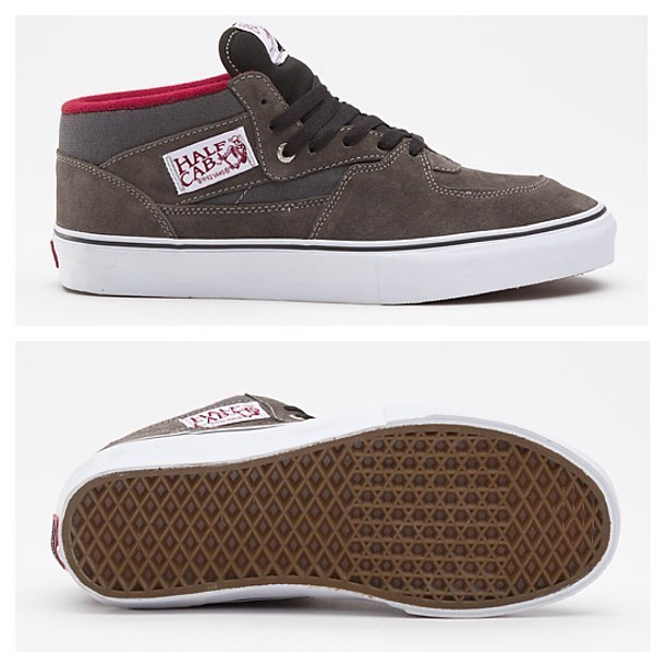 Half Cab Pro, Charcoal/Burgundy Available now! vans.com vansbmx.tumblr.com