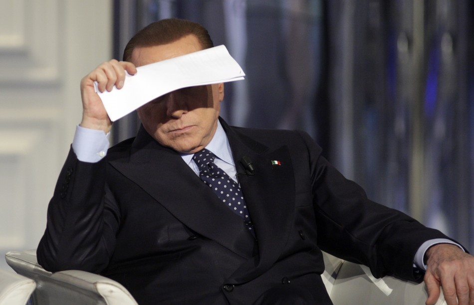 Silvio Berlusconi 'Gave €3m Bribe to Rival Politician Sergio De Gregorio' http://www.ibtimes.co.uk/articles/440541/20130228/italy-berlusconi-bribe-de-gregorio.htm Photo: Reuters