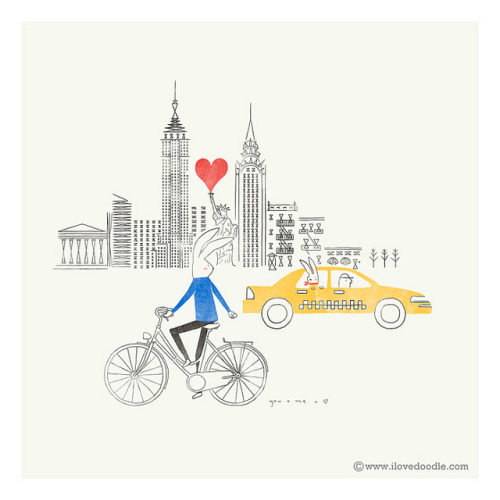ilovedoodle:  Love around the world @ New York on Flickr.Love at first sightWebsite / Facebook / Twitter / Tumblr / Etsy