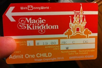 1986 Magic Kingdom park pass