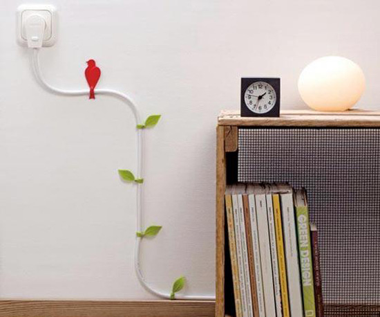 artsyrup:  When You Can't Hide Power Cables, Embrace Them