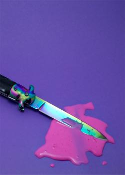 photography blood cute pink purple colorful KNIFE still life artists on tumblr splatter crime scene Nicole L Thomas