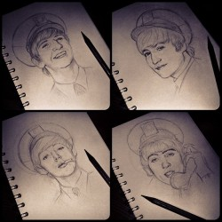 dollychops:  Late night Beatle-sketching..