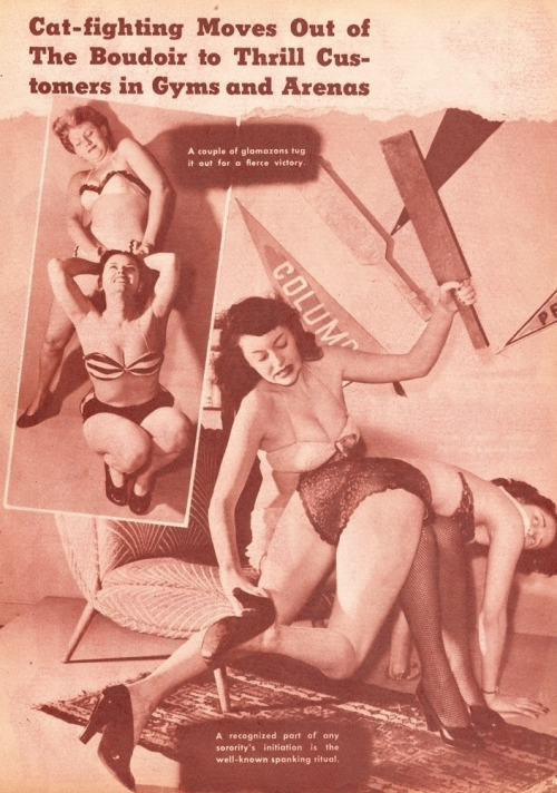 Spanking glamazons from Beauty Parade, October 1947. Vintage Scans