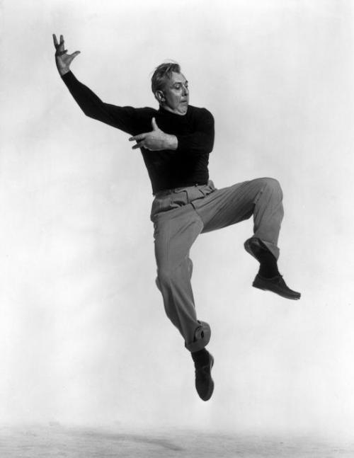 thehulotuniverse:  Jacques Tati by Philippe Halsman, from the Jumping Series… 1954