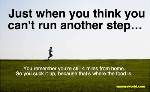 This is exactly my run last night - I was so hungry that I ran faster just so I could get home & eat!