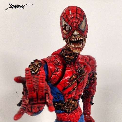 Zombie Spidey hungry.