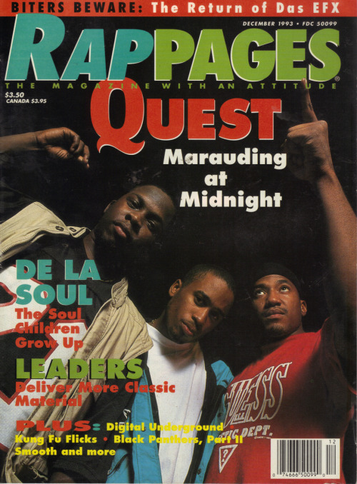 upnorthtrips:  A Tribe Called Quest - Rap Pages, December 1993