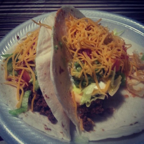 Homemade tacos mmmmm. #JunctionCityKansas