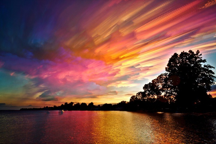 99lions:  Smeared Skies by Matt Molloy Matt busted out into the art scene with his smeared sky photos. Stacking 100 to 200 photos into one, he gave a new way to enjoy the view above us.