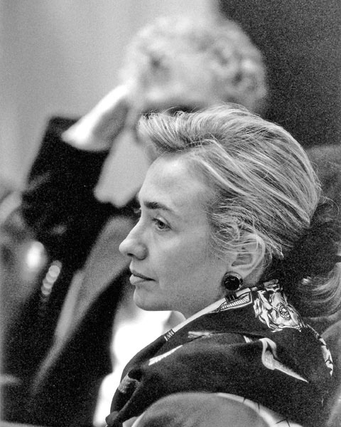 "gardensgrey:  Inspirational Hillary quotes:  1. ""I really don't spend a lot of time worrying about what people think about me…I would be totally paralyzed. How could you get up in the morning if you worried about some poll or what somebody said about you? That's giving up power over your life to somebody else, and I don't intend to do that.""  2. ""Every moment wasted looking back keeps us from moving forward. Life is too short, time is too precious, and the stakes are too high to dwell on what might have been.""  3. ""I'm not going to mislead anybody. Politics is really hard. And it is harder for women. There's a double standard, and you can't complain about it. You just have to accept it, and be smart enough to navigate it. And you have to have a pretty tough skin. To paraphrase a favorite quote from Eleanor Roosevelt: If a woman wants to be in politics, she has to have the skin of a rhinoceros. Most men who go into politics just think they're great. They believe they can do anything. Most young women, not only in politics but in most areas, are more cautious and more likely to say, 'Could I really do this? Am I good enough?' I was talking to a friend and very successful businessman the other day, and he said, 'The thing that still annoys me more than anything is that I see all these young women who are so much more capable than they allow themselves to believe. And I see so many young men who are so much less capable but who believe they are God's gift to the world.' I would just say to women: Try it! Put your foot in the pond and see if you want to swim."" 4. ""Occasionally I'll be sitting somewhere and I'll be listening to someone perhaps not saying the kindest things about me. And I'll look down at my hand and I'll sort of pinch my skin to make sure it still has the requisite thickness I know Eleanor Roosevelt expects me to have."" 5. ""When you stumble, keep faith. And when you're knocked down, get right back up, and never listen to anyone who says you can't or shouldn't go on."""