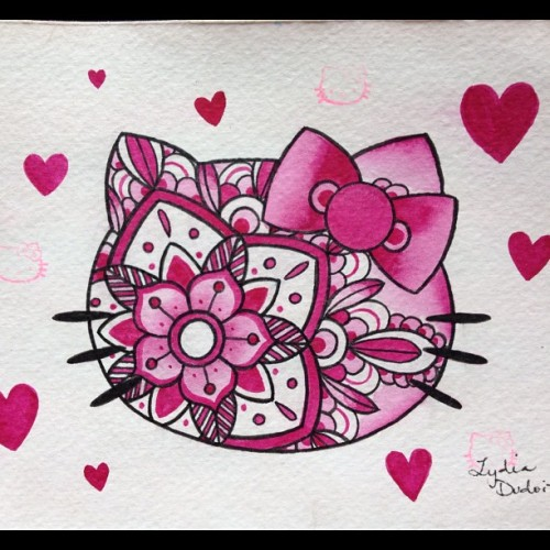 💗Mini painting #hellokitty #painting #loyaltytattoo #pink #keepingbusy #tattoo