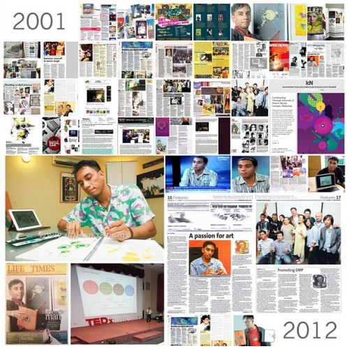 "12 Years of Media Support of my career milestone. Thank you amazing writers, reporters, reviewers, tv hosts and everyone who appreciate my craftsmanship. ""Renown Digital Artist"" - Astro Awani, ""Prolific Designer"" - Oxygen Magazine, ""Multimedia Man"" - NST, ""Duta Muda Seni Digital"" - Utusan. I'm deeply humbled. Thank you"