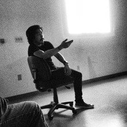 @danielbrucelee kicking knowledge in class tonight at #otis (at Otis College of Art and Design)