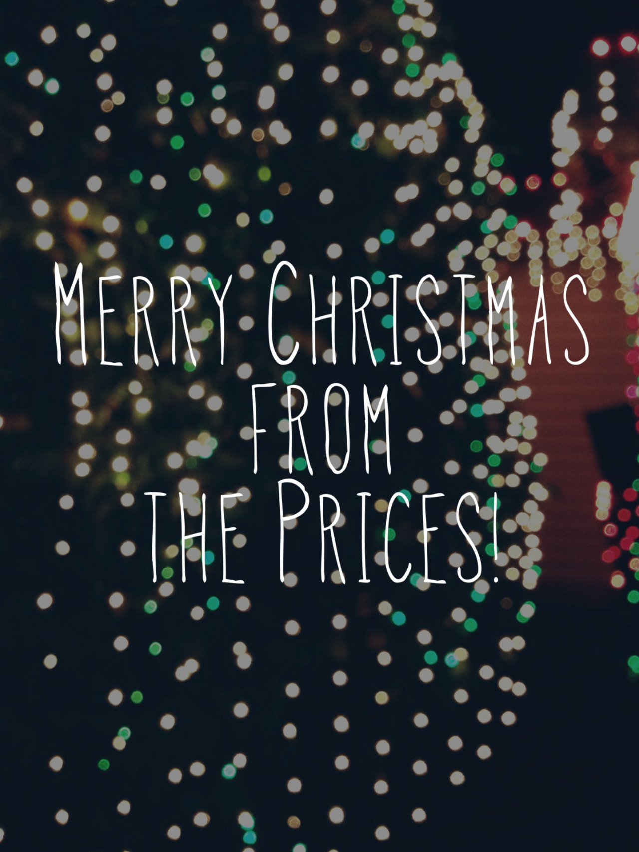 Merry Christmas from the Prices!