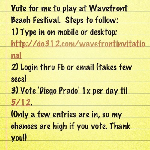 Send Me To Wavefront. Vote here