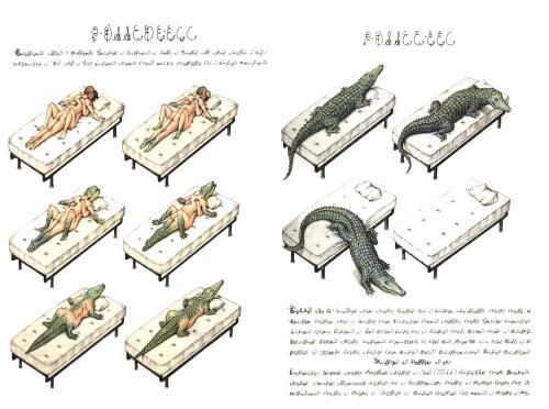 suspensioncathouse:  Luigi Serafini - Codex Seraphinianus  Have you ever had such passionate sex that you and your lover mutually transformed into an alligator Have you ever been in a situation where that sentence could be used