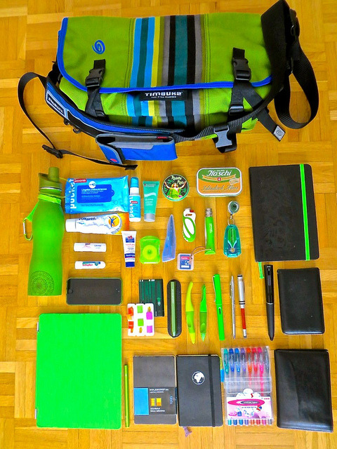 Spring What's in my bag by Do8y on Flickr.All Green!