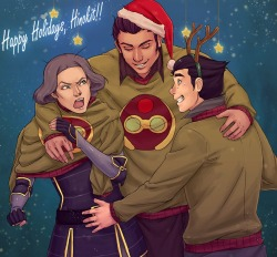 youngjusticer:  Watch where you're placing that hand, Bolin. Equalist Sweaters, by Nymre.