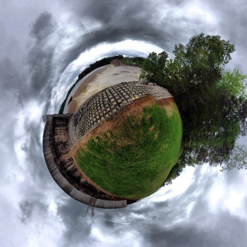 Stereographic of Rhodhiss Dam #flood #ncwx #nc  (at Rhodhiss Dam)