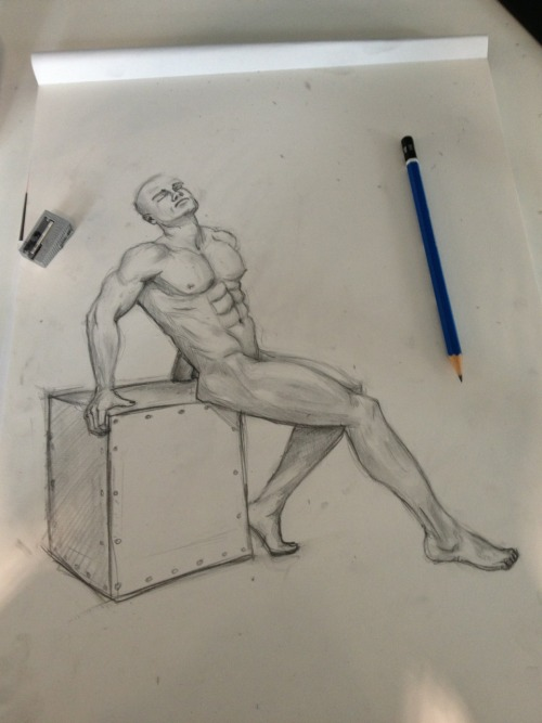 bit of the ol' nude man life drawing