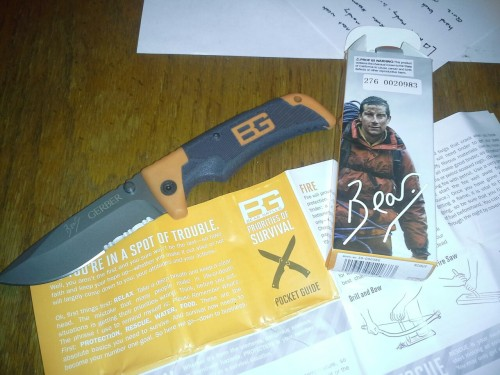 oh man I must have bought a bear grylls knife when drunk  I couldn't be happier