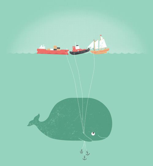 tastefullyoffensive:  'Whale Balloons' by William McDonald