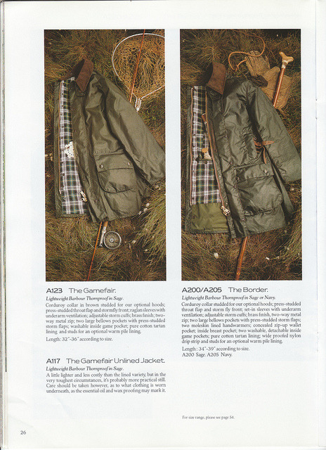 Barbour Catalog 1987 27 on Flickr.Barbour Catalog 1987.  The Jackets- a series.