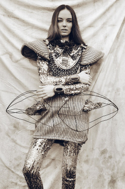 "stormtrooperfashion:  Nikol Podhraski in ""Wild Couture"" by Mateusz Sitek for Design Scene, May 2013"