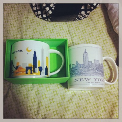 My new NEW YORK🌆☕ coffee mugs from @aesth3tik_danimal 's mama when she went to NY for vacay! So sweets!