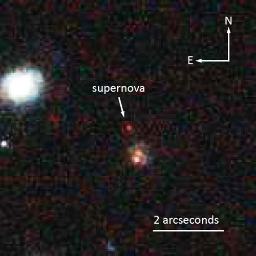 "Astronomers Use Distant Supernova to Study Cosmic HistoryWhat if you had a ""Wayback Television Set"" and could watch an entire month of ancient prehistory unfold before your eyes in real time? David Rubin of the U.S. Department of Energy's Lawrence Berkeley National Laboratory (Berkeley Lab) presented just such a scenario to the American Astronomical Society (AAS) meeting in Long Beach, CA, when he announced the discovery of a striking astronomical object: a Type Ia supernova with a redshift of 1.71 that dates back 10 billion years in time. Labeled SN SCP-0401, the supernova is exceptional for its detailed spectrum and precision color measurement, unprecedented in a supernova so distant.Read more: http://www.laboratoryequipment.com/news/2013/01/astronomers-use-distant-supernova-study-cosmic-history"