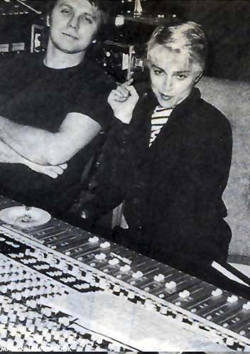 Sound Mixer Michael Hutchinson and #Madonna in the studio 1986