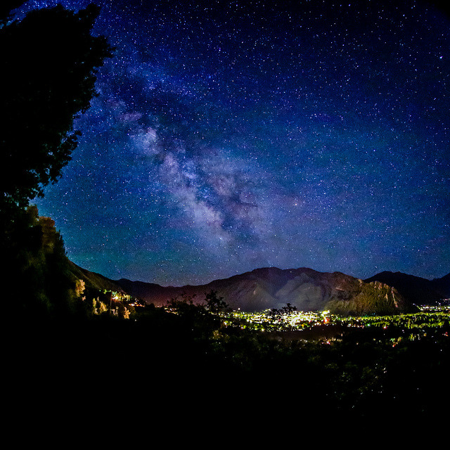 Milky Way Over Aspen on Flickr.Via Flickr: A shot from my fisheye back in June, it wasn't one of my favorites so I never did anything with it. Decided to go back and see if I could spice it up a bit! Website | facebook | Google+ | Blog | Stipple