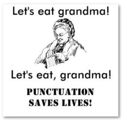 Punctuation, what a wet blanket you are.