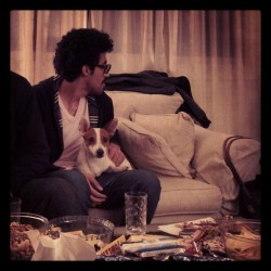 @mu7ajj and Milo watching the Oscars (1)