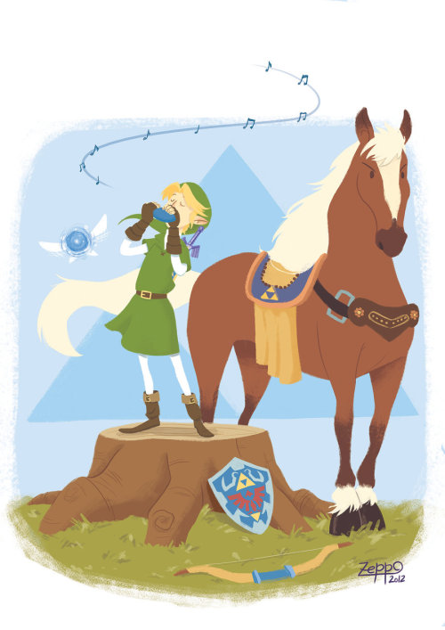 legendarycreations:  Epona's song. by ~DanielZeppo